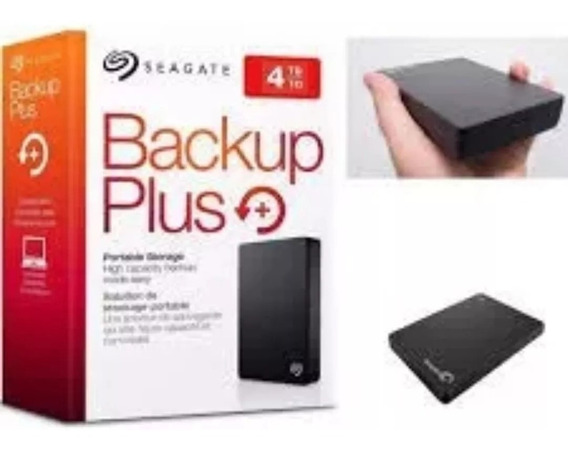 Hd Externo Seagate Bkp Plus 4tb De Bolso Usb 3.0 Para Mac Ps4 Xbox One