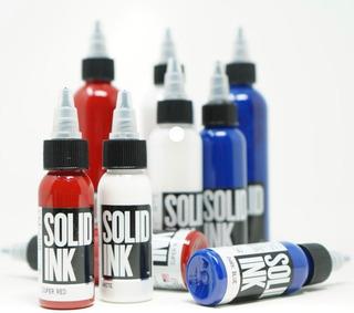 Tintas Para Tatuar Solid Ink Usa (pigmentos Tattoo Tatuajes)