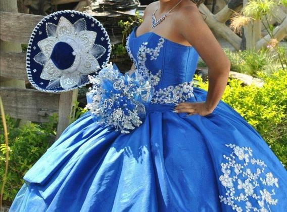 Vestido De Quince Años Color Azul Rey