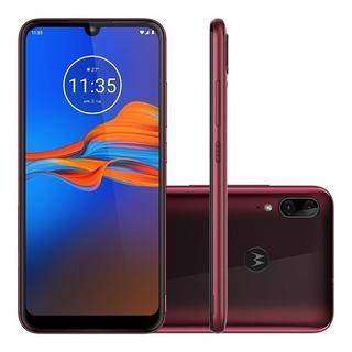 Smartphone Motorola Moto E6 Plus 64gb Rubi 4g Tela 6,1