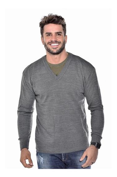 Blusa Masculina Para Frio De Lã Gola V Ref 126