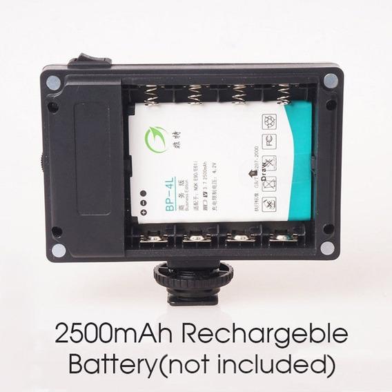 Iluminador 96 Leds +bateria Para Câmeras Dslr