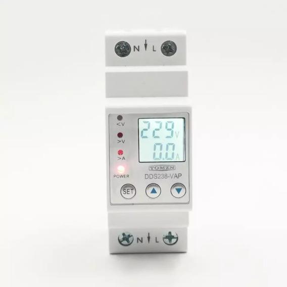 Protetor Tensão E Corrente Ac 60a 110v/220v C/ Wattímetro