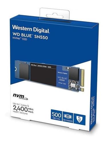 Disco Solido Ssd M2 Nvme 500gb Western Blue Sn550 Wd @pd
