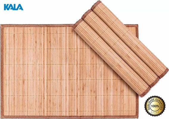 Jogo Americano Bambu Mesa 4 Peças Retangular Kala 30 X 45