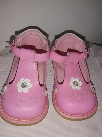 Zapatos De Cuero Color Rosa Marca Pibe Nro. 20}