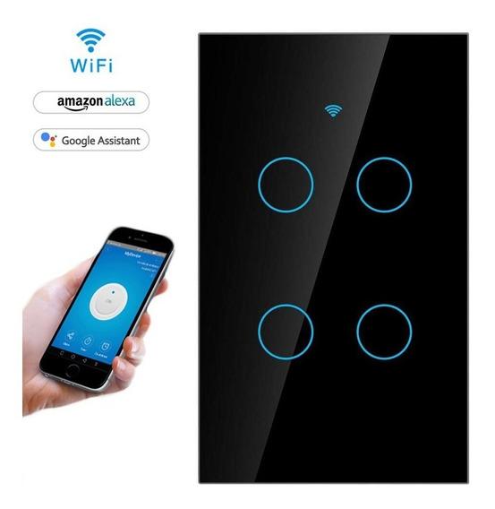 Apagador Inteligente Touch Wifi De 4 Botones Tipo Sonoff