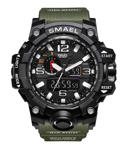 Smael Marca Homens Esportes Relógios Dupla Display Digital A