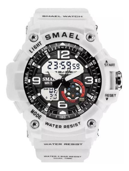 Relógio Esportivo Feminino Smael Branco E Preto .