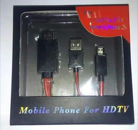 Adaptador Hdmi Celular Na Televisão