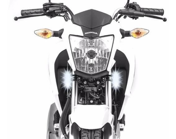 Farol Milha Led 18w Moto Honda Cg 125 150 160 Titan Fan (par