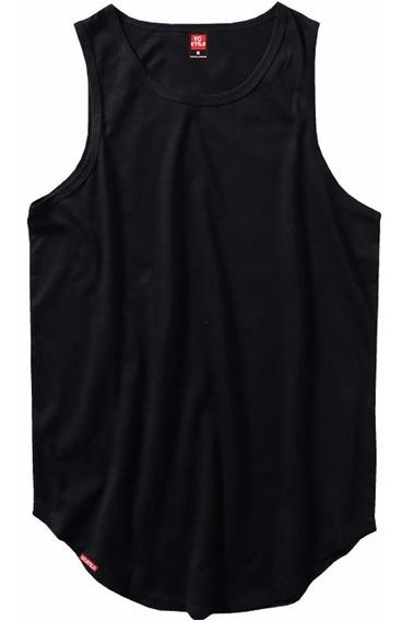 Kit 4 Regatas Longline Oversized C80 Camiseta Masculina