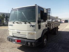 Ford Cargo 712,ano:09,branco,com Carroceria De 5,5 Mts,ótimo