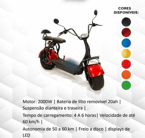 Patinete Moto Scooter Elétrico Bateria Removível Motor 2000w