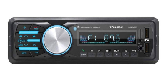 Som automotivo Roadstar RS-2715 com USB, bluetooth e leitor de cartão SD