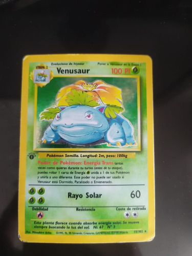 Venusaur Base Set Primera Ed Pokemon Cartas Cards Tcg 15/102