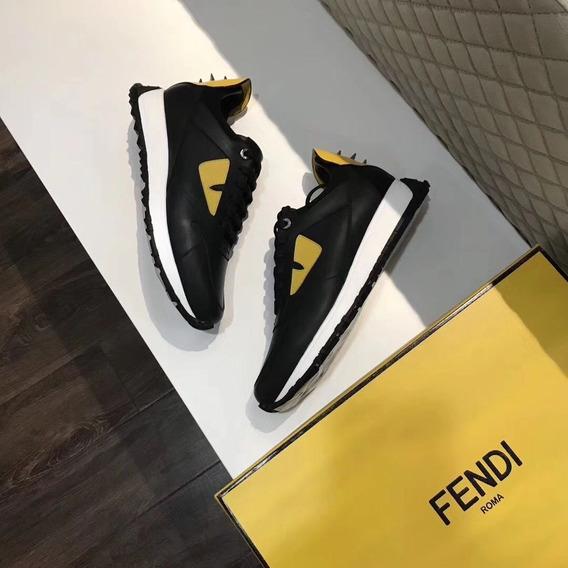 Tênis Fendi Bag Bugs 100% Couro