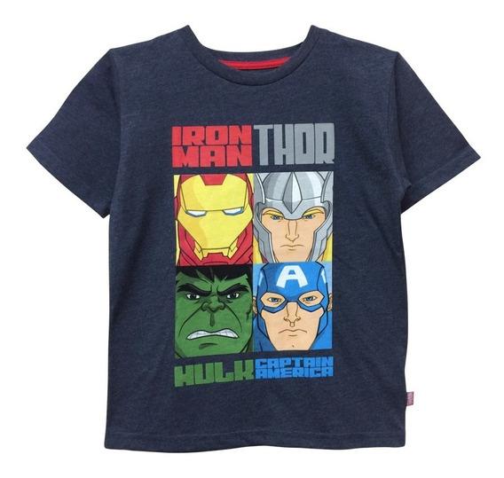 Playera Captain America Hulk Thor Y Iron-man Para Niño