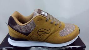 Tenis Ferma Jogging C27f62 Amarelo Mostarda