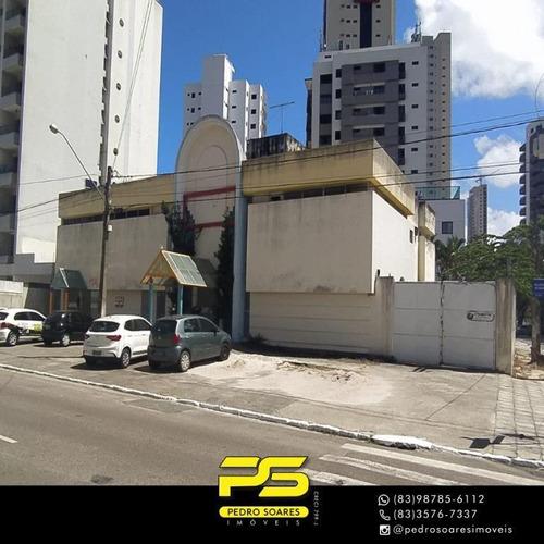 Imagem 1 de 15 de Prédio Para Alugar, 538 M² Por R$ 14.000/mês - Manaíra - João Pessoa/pb - Pr0053