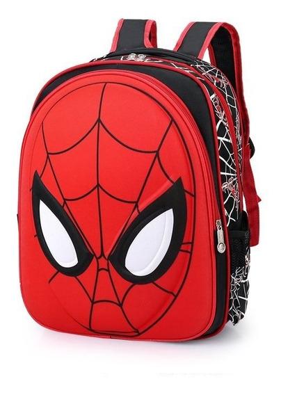 Mochila Bolsa Escolar Infantil Crianças Homem Aranha 3d