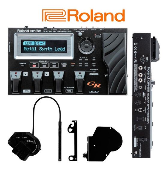 Pedaleira Sintetizador Midi Para Guitarra Roland Gr-55gk-bk