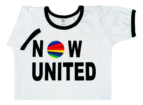 Cropped Infantil Now United Camiseta Blusa