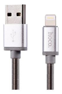 Cable Metalico De Carga Rapida iPhone 5 Se 6 7 8 Hoco U5