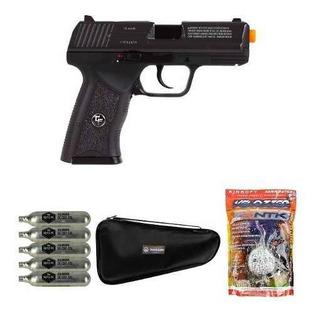Pistola Airsoft Co2 Insanity Gbb 6mm + Bbs + Co2 + Capa