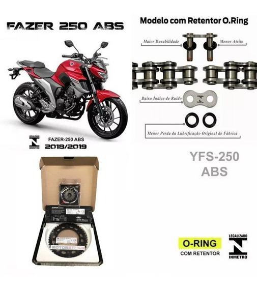 Kit Relação Yamaha Fazer 250 Abs 2018/2019/2020 Inmetro