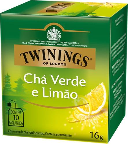 Imagem 1 de 1 de Chá Twinings Verde E Limão 10 Sachês