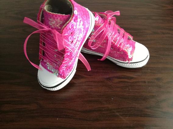 Zapatillas Con Lentejuelas, Fiestas, Moda,15 Años,cumpleaños
