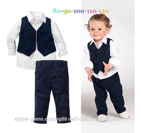 Conjunto Menino Infantil Roupa Social Festa Camisa Social
