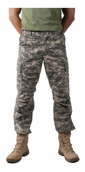 2 Calcas Masculinas Combat Camuflada Digital Areia Bélica