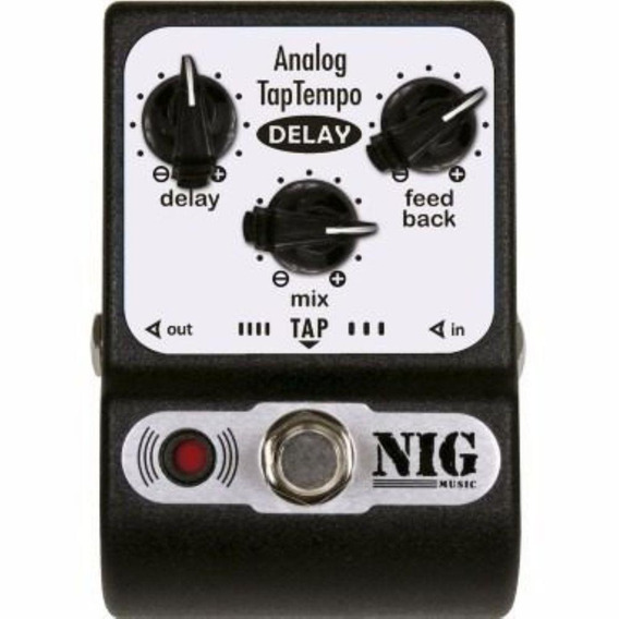Pedal Nig Analog Tap Tempo Delay - Frete Grátis