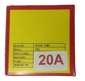 Fusível De Vidro 20a 250v 5x20 Caixa 100peças