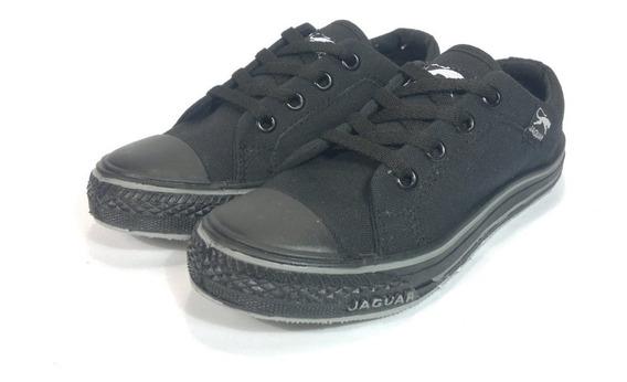 Zapatillas Colegiales Jaguar Negras 27 Al 33 En Moreno