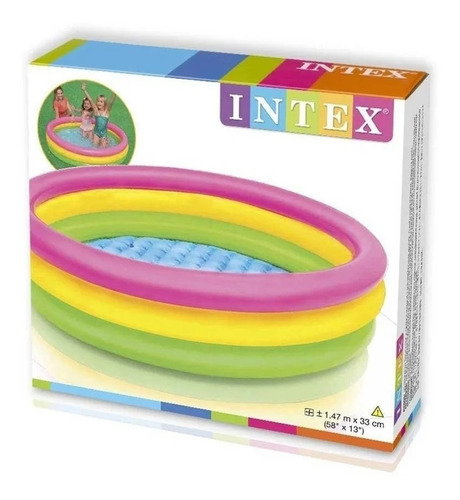 Piscina Inflable + 300 Pelotas Intex 147cm Plástico Agua