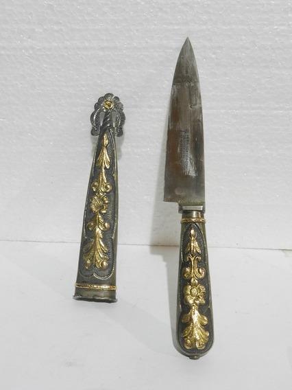 Cuchillo Criollo De Plata Y Oro Boker Arbolito Solingen