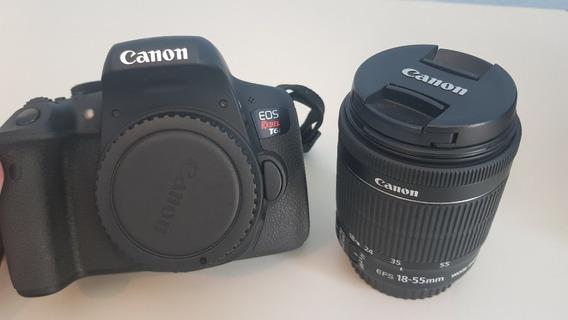 Câmera Canon Rebel T6i C/ 18-55mm Stm + Bolsa + 2 Baterias