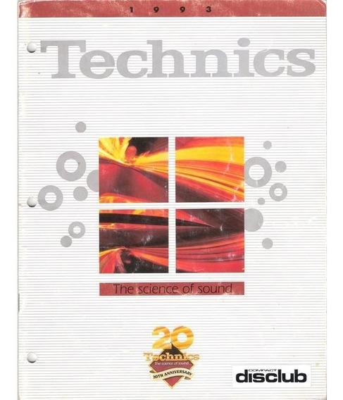 Catalogo Technics Audio Componentes Hi-fi Japon 1993 (pdf)