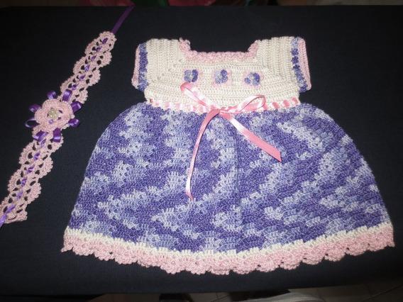Vestido Tejido Para Niña En Crochet
