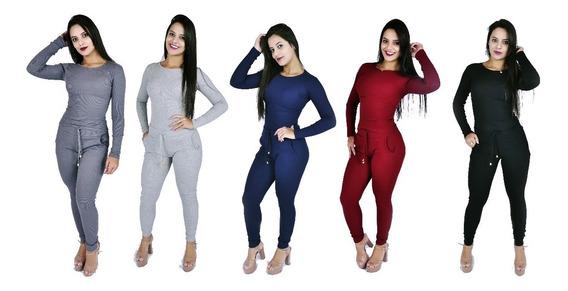 Conjunto Ribana Feminino Lançamento Inverno Calça E Blusa