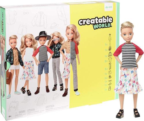 Creatable World Barbie Mattel Loiro Dc-414 Fashion