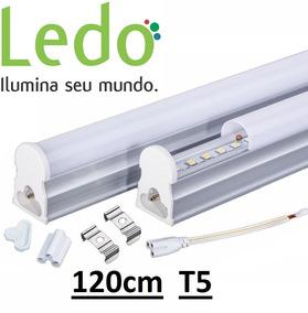 Kit 15 Lâmpada Led Tubular Calha T5 18w 120cm 6000k - Ledo