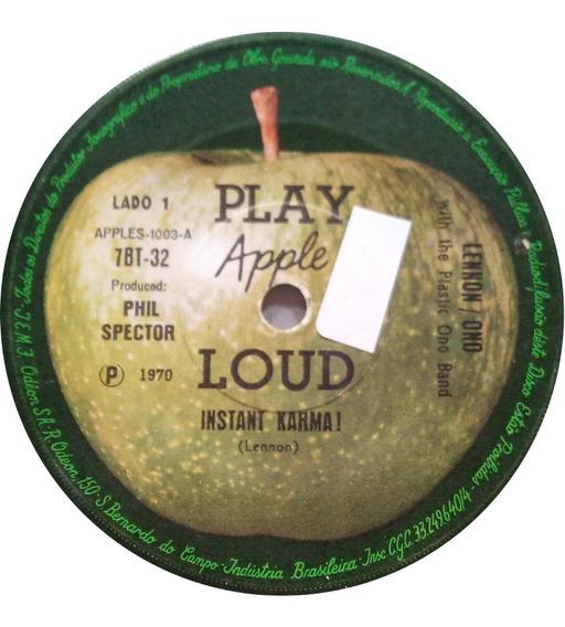 John Lennon/plastic Ono Band Compacto 1970 Instant Karma !