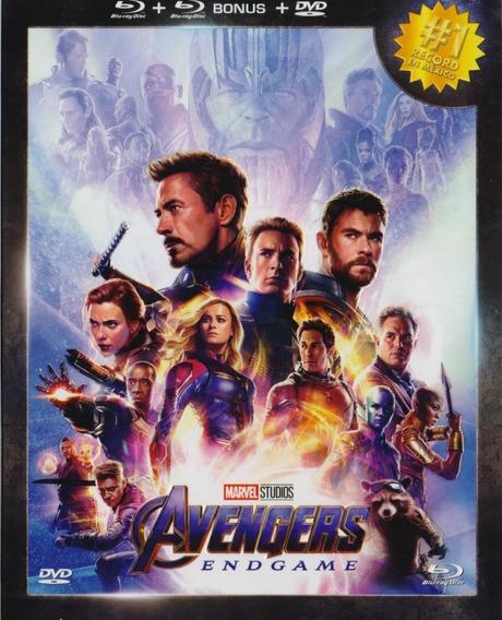 Avengers Endgame Edición Nacional 2 Blu-ray + Bonus + Dvd