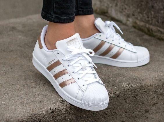 adidas Superstar Branco/rose