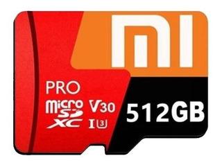 Cartão De Memória Micro Sdxc Xiaomi 512gb Leitor De Cartão