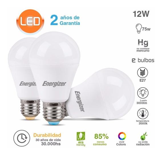 Pack Lampara Led Energizer 12w = 75w Luz Calida X 10 Uni
